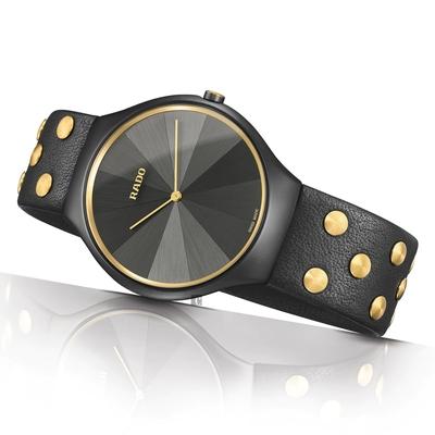 RADO 雷達 True Thinline 真系列 設計師聯名 鉚釘限量石英女錶 R27012105