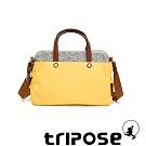 tripose 漫遊系列岩紋雙拉鍊手提斜背包 活力黃