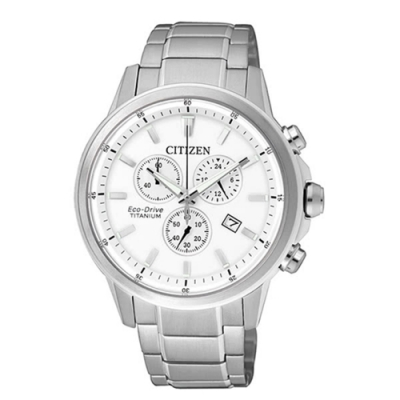 CITIZEN 星辰Eco-Drive 簡約都會時尚鈦金屬男腕錶(AT2340-81A)