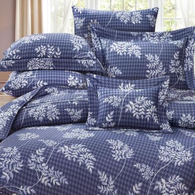 岱思夢   雙人  60支八件式天絲床罩組  查布爾-藍