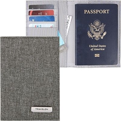 《TRAVELON》兩折式護照夾(灰)