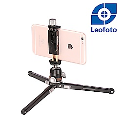 Leofoto徠圖-桌面多功能三腳架(含手機夾)-MT02+MBH19+PC90