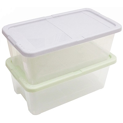 月陽超值2入多用途半透明鞋盒收納盒整理盒(PP8)