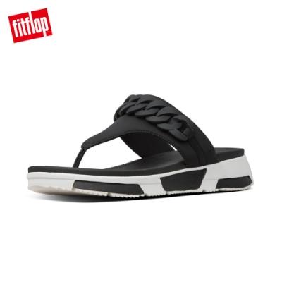 FitFlop HEDA CHAIN TOE THONGS運動風夾腳涼鞋 黑色