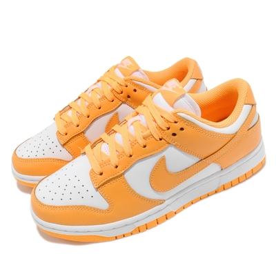 Nike 休閒鞋 Dunk Low 運動 女鞋 經典款 舒適 皮革 簡約 球鞋 穿搭 黃 白 DD1503800