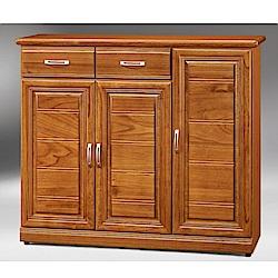 MUNA希爾達樟木色4尺鞋櫃  121X39X106cm