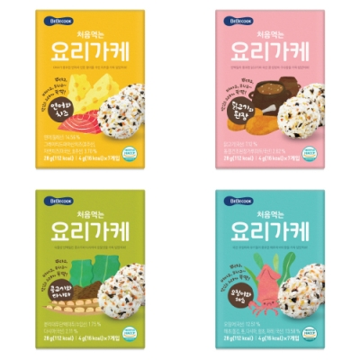 韓國 【BEBECOOK】 初食拌飯香鬆4入組(鮭魚起司、雞肉味噌、牛肉蔬菜、海苔魷魚)