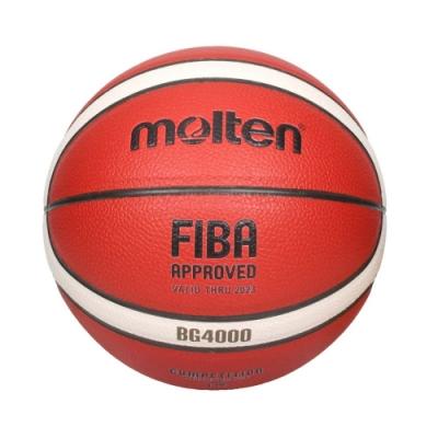 MOLTEN #6合成皮12片貼籃球-戶外 室外 訓練 6號球 B6G4000 橘米白黑