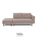 obis Valia北歐風簡約雙人L型布沙發(三色)