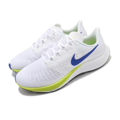 Nike 慢跑鞋 Zoom Pegasus 37 運動 男鞋 氣墊 舒適 避震 路跑 健身 球鞋 穿搭 白 藍 BQ9646102
