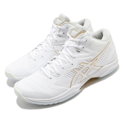Asics 籃球鞋 Gelhoop V12 運動 男鞋 亞瑟士 輕量 緩衝 FLYTEFOAM 白 金 1063A021105
