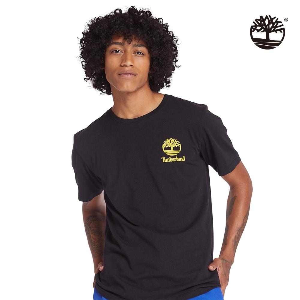 Timberland 男款黑色迷彩印花有機棉短袖圓領T恤|A235A
