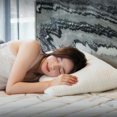 喬曼帝Jumendi Q彈柔軟/針織低軟支撐枕(1入)