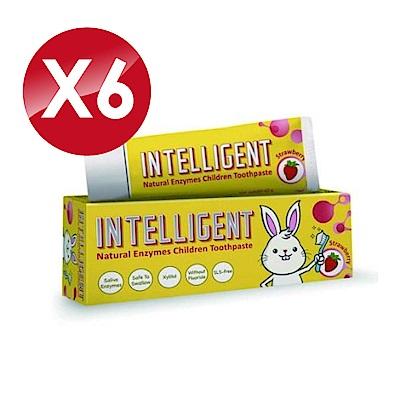 (6入組)Intelligent 因特力淨 兒童酵素牙膏 (草莓優格) 40gX6