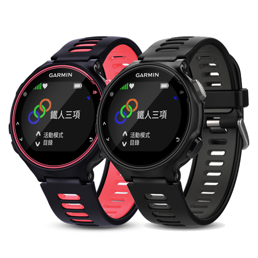 GARMIN Forerunner 735XT 腕式心率GPS全能運動錶 (黑 /粉色)
