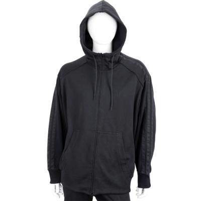 Y-3 YOHJI SKULL 刺繡骷髏頭黑色棉質連帽外套