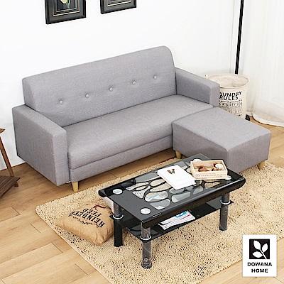 多瓦娜-帕斯尼貓抓皮時尚L型沙發組合/三色