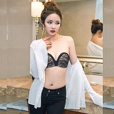 無痕防滑花蕾內衣禮服隱形胸罩  狐狸姬