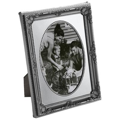 《VERSA》復古花邊相框(銀灰4x6吋)