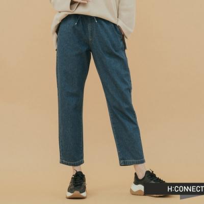 H:CONNECT 韓國品牌 女裝 - 抽繩修身牛仔褲-藍