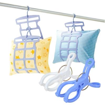 日本sanada多段式枕頭曬架4包裝送6入曬竿夾