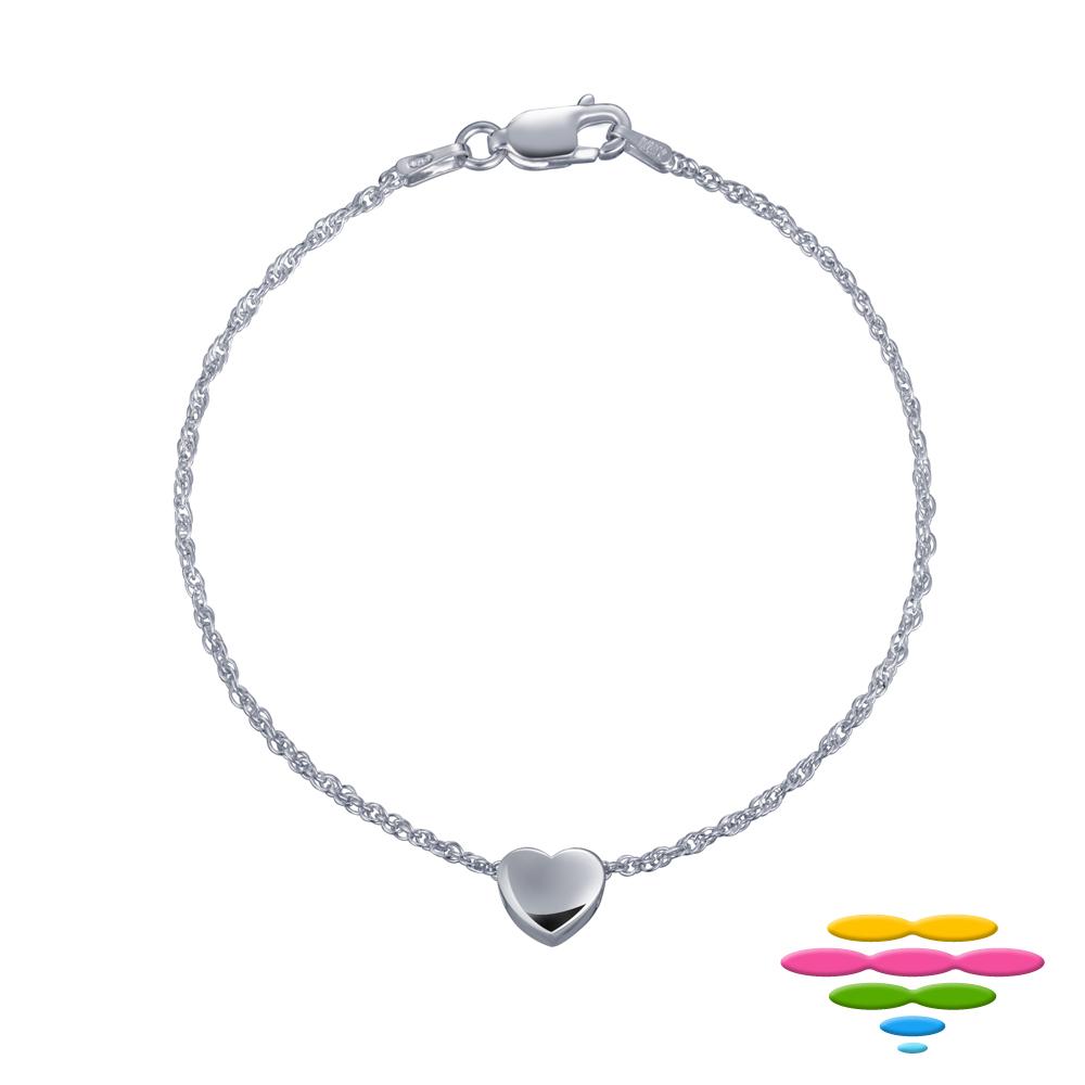 彩糖鑽工坊 甜蜜愛心 925純銀 銀手鍊 Fragille系列