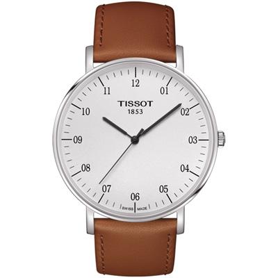 TISSOT 天梭 極簡主義時尚腕錶(T1096101603700)