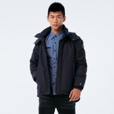 BIG TRAIN 充孔配色防風潑水外套-男-深藍