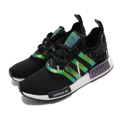 adidas 休閒鞋 NMD R1 W 襪套式 女鞋 海外限定 愛迪達 三葉草 Boost 黑 黃 FW3331