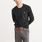 A&F 經典麋鹿標誌圓領長袖毛衣-深灰色 AF Abercrombie