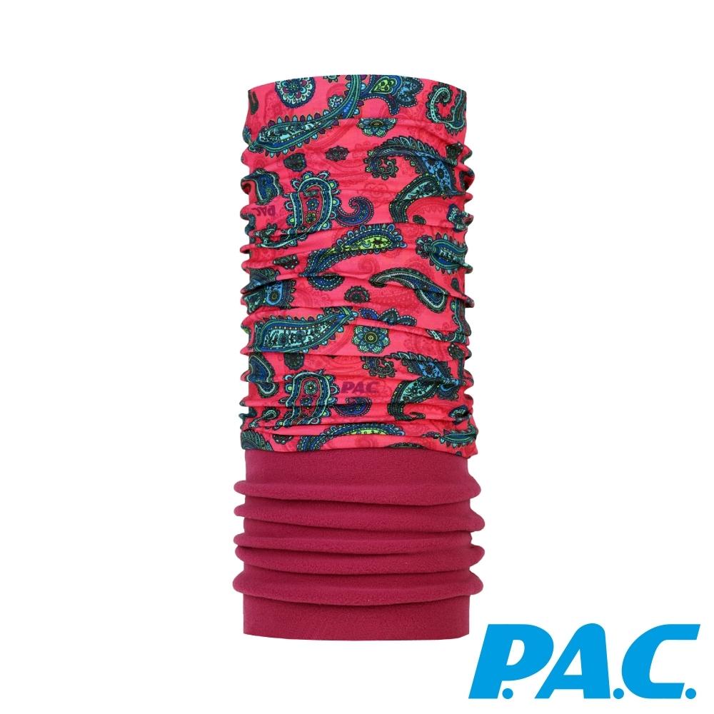 【PAC德國】FLEECE刷毛保暖抗菌抗臭頭巾PAC8865265桃紅