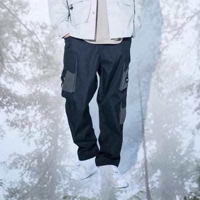 LAKING.LAB-織帶多口袋寬鬆工作長褲