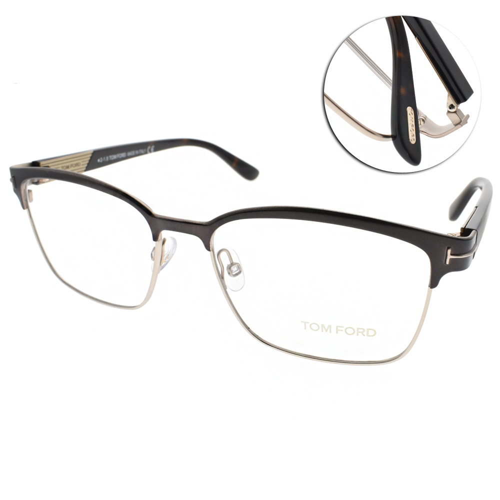TOM FORD眼鏡 質感眉框/霧棕黑 #TF5323 048 @ Y!購物