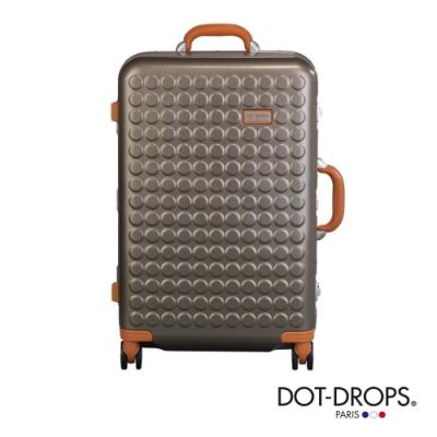 DOT-DROPS 24 吋 Chapter 4 時尚點點鋁框硬殼行李箱 - 香檳金