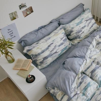 翔仔居家 台灣製 100%天絲兩用鋪棉被套&床包4件組-粼光 (加大)