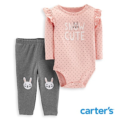Carter's 小兔荷葉花邊二件組套裝