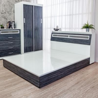 Birdie南亞塑鋼-3.5尺單人塑鋼床組(床頭箱+床底)(鐵刀木色)