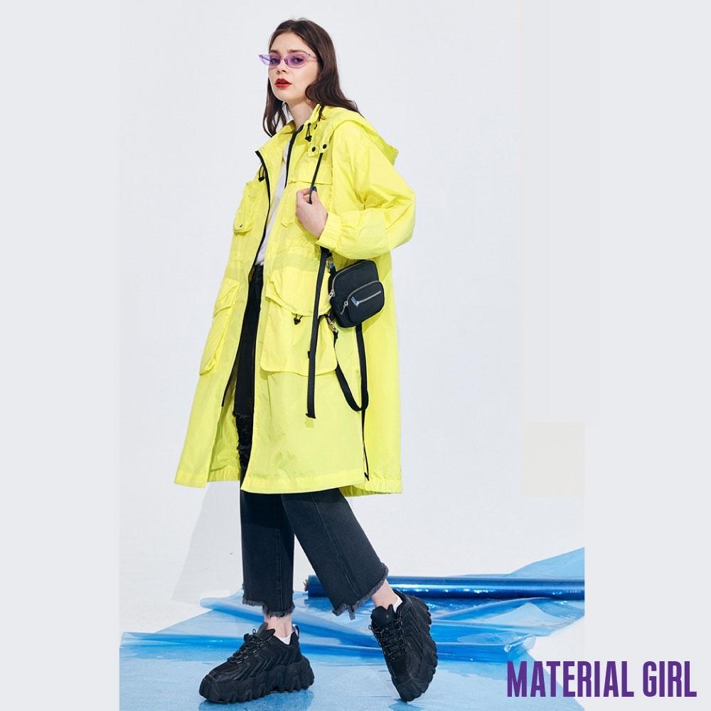 MATERIAL GIRL 亮黃色工裝寬鬆直筒風衣【20春季款】-42235