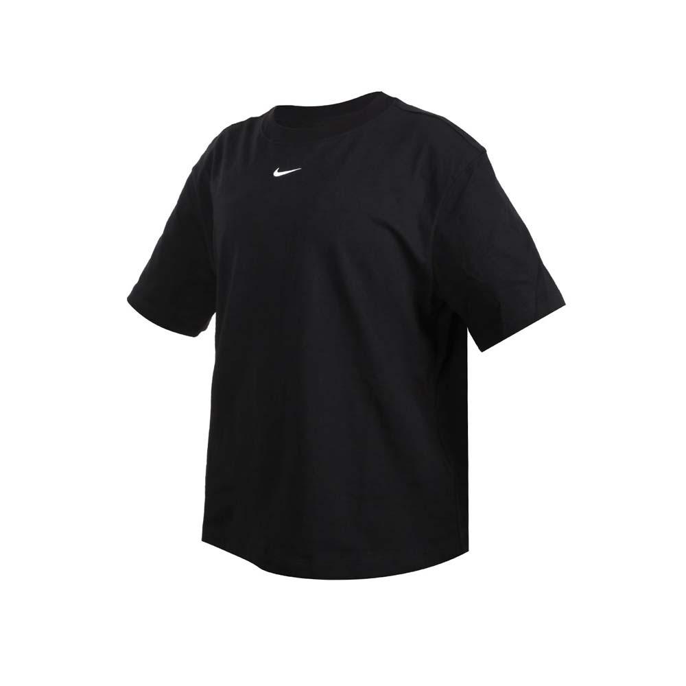 NIKE 女短袖T恤-純棉 休閒 慢跑 上衣 寬版 圓領 棉質 CT2588-010 黑白
