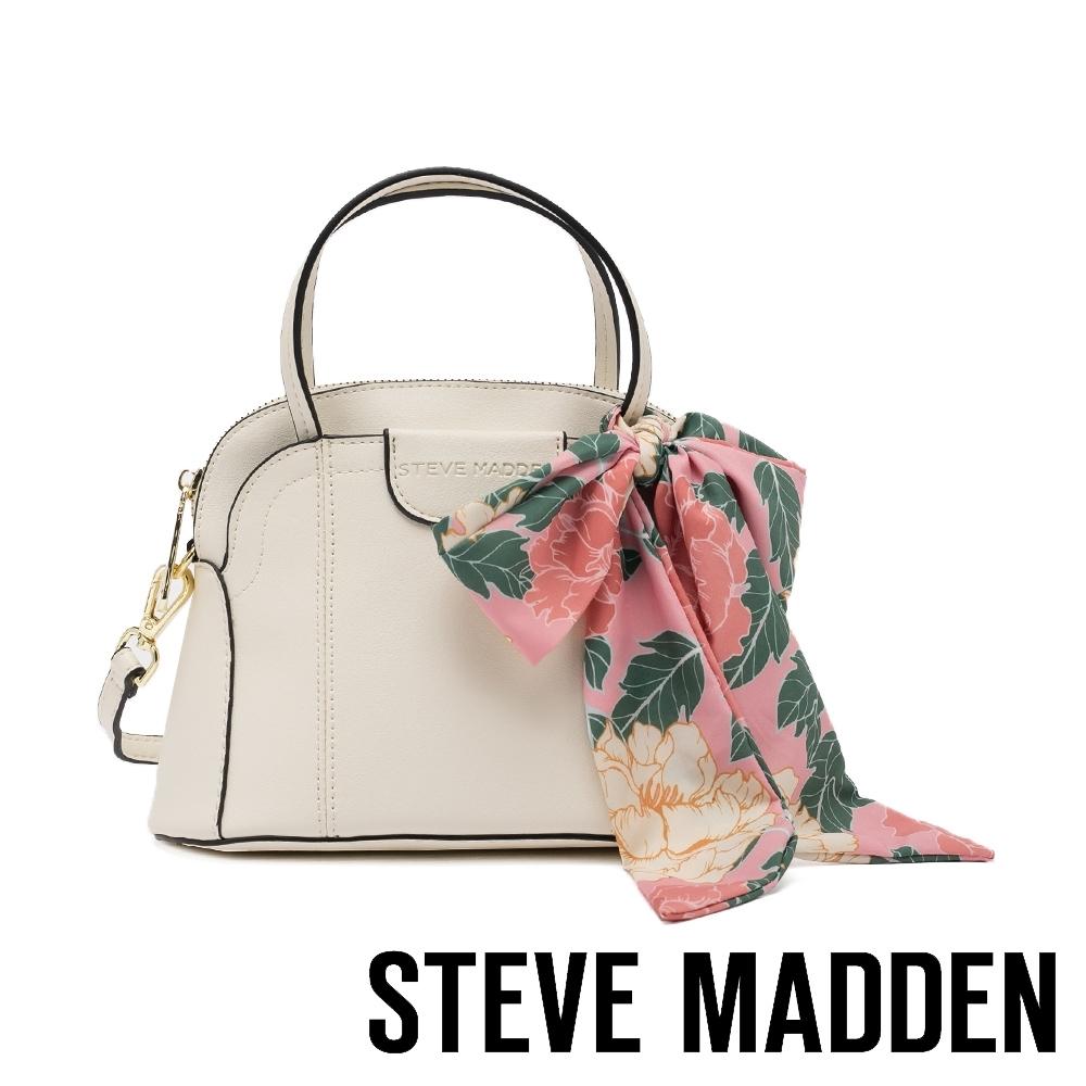STEVE MADDEN-BCOSTA 清新花絲巾綁飾手提斜背包-米杏色