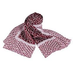 CK Calvin Klein 雙色LOGO印花造型披巾(紅)