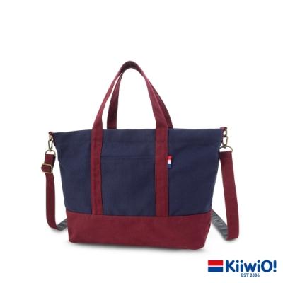 Kiiwi O! 百搭隨行系列2way帆布托特包 ZARA (A4 OK!) 紅/藍