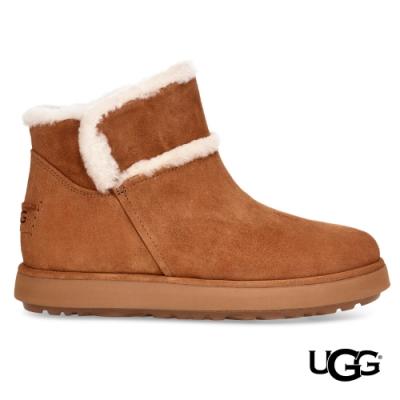 UGG短靴 經典大道Spill Seam毛邊造型雪靴