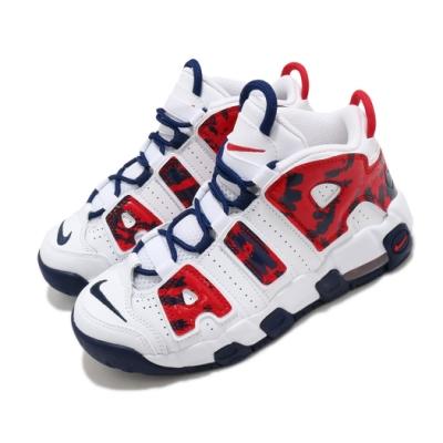 Nike 籃球鞋 Air More Uptempo 童鞋 經典款 大AIR 氣墊 避震 中童 穿搭 白 紅 CZ7886100