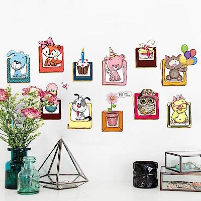 半島良品 DIY無痕壁貼-可愛小動物 XH6223 45x60cm
