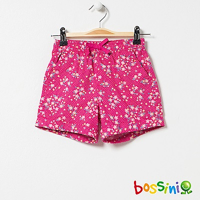 bossini女童-印花輕便短褲01桃紅
