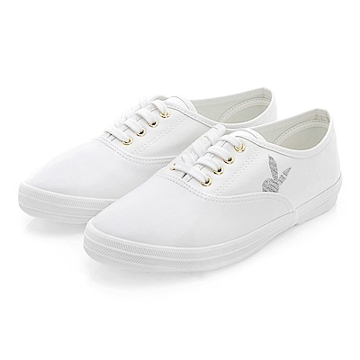 PLAYBOY潮流最IN 極簡仿皮綁帶休閒鞋-白
