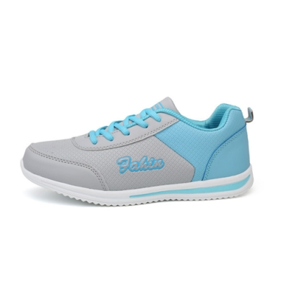 韓國KW美鞋館-鞋輕甜美流線英文街頭耐折跑步鞋 藍