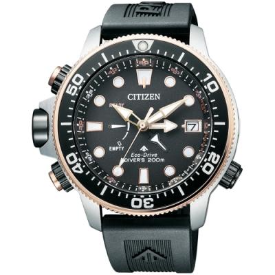 CITIZEN星辰 PROMASTER 30週年紀念光動能潛水錶(BN2037-11E)