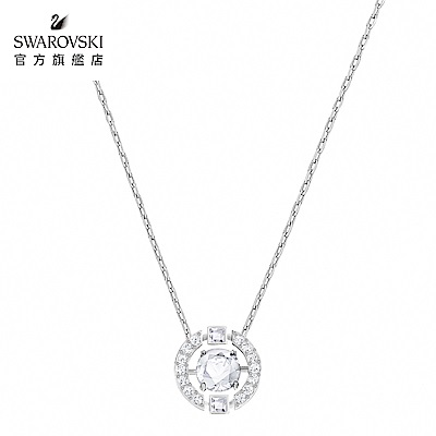 SWAROVSKI 施華洛世奇 Sparkling Dance Round 圓形水晶項鏈